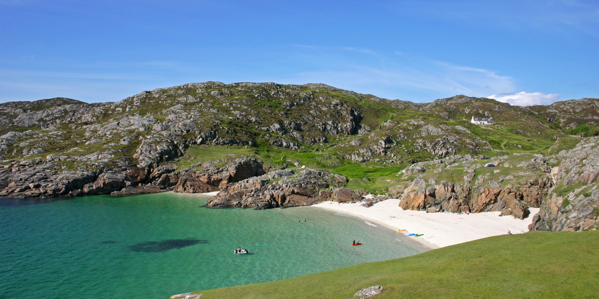 Photo of a summer day on the beautiful north beach at Achmelvich