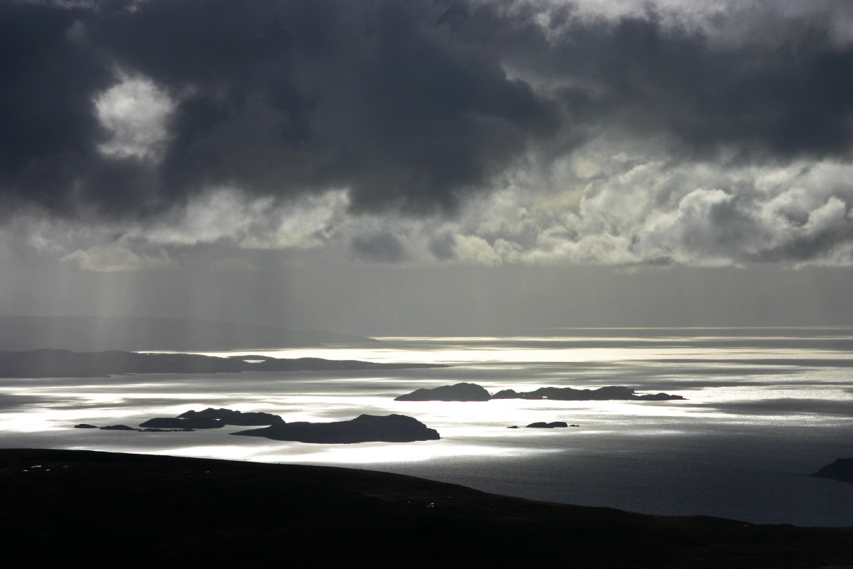 Photo of the Summer Isles from Stac Pollaidh