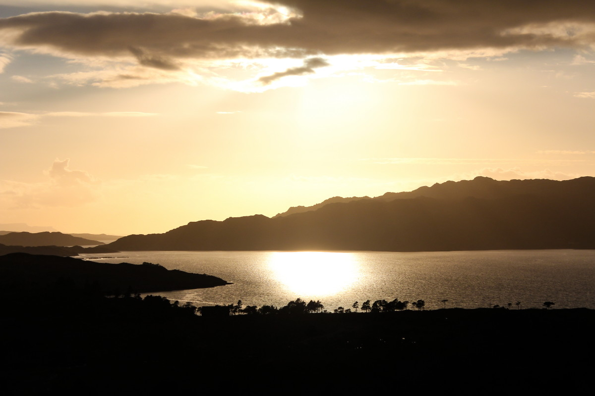 Photo of stunning evening light over Upper Loch Torridon