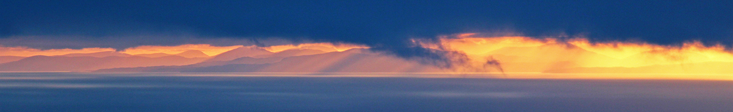 Header photo - Sunset over Harris from Stac Pollaidh