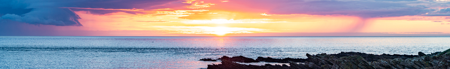 Header photo - Sunset from Scarfskerry Harbour, Caithness