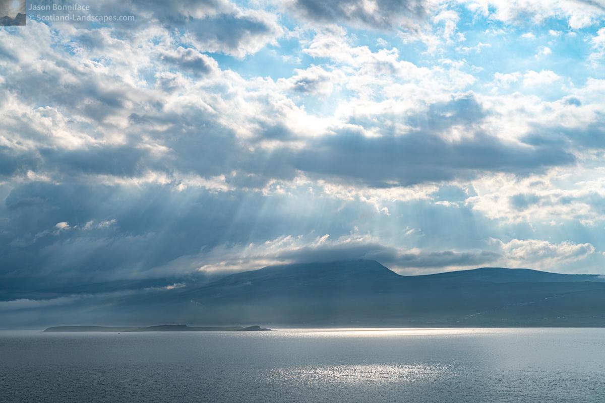 Photo of Beinn Spionnaidh, a Corbett seen in late afternoon light across Loch Eriboll
