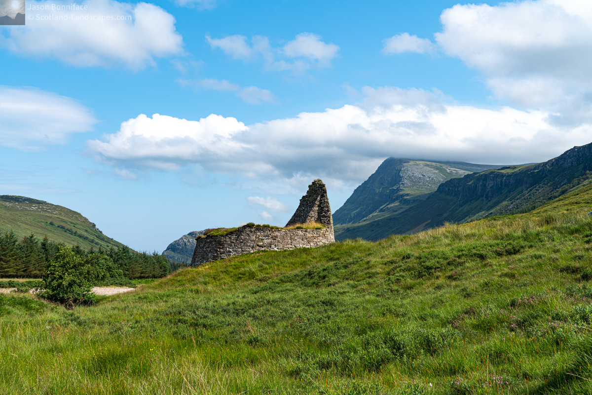 Photo - Dun Dornaigil Broch and Ben Hope