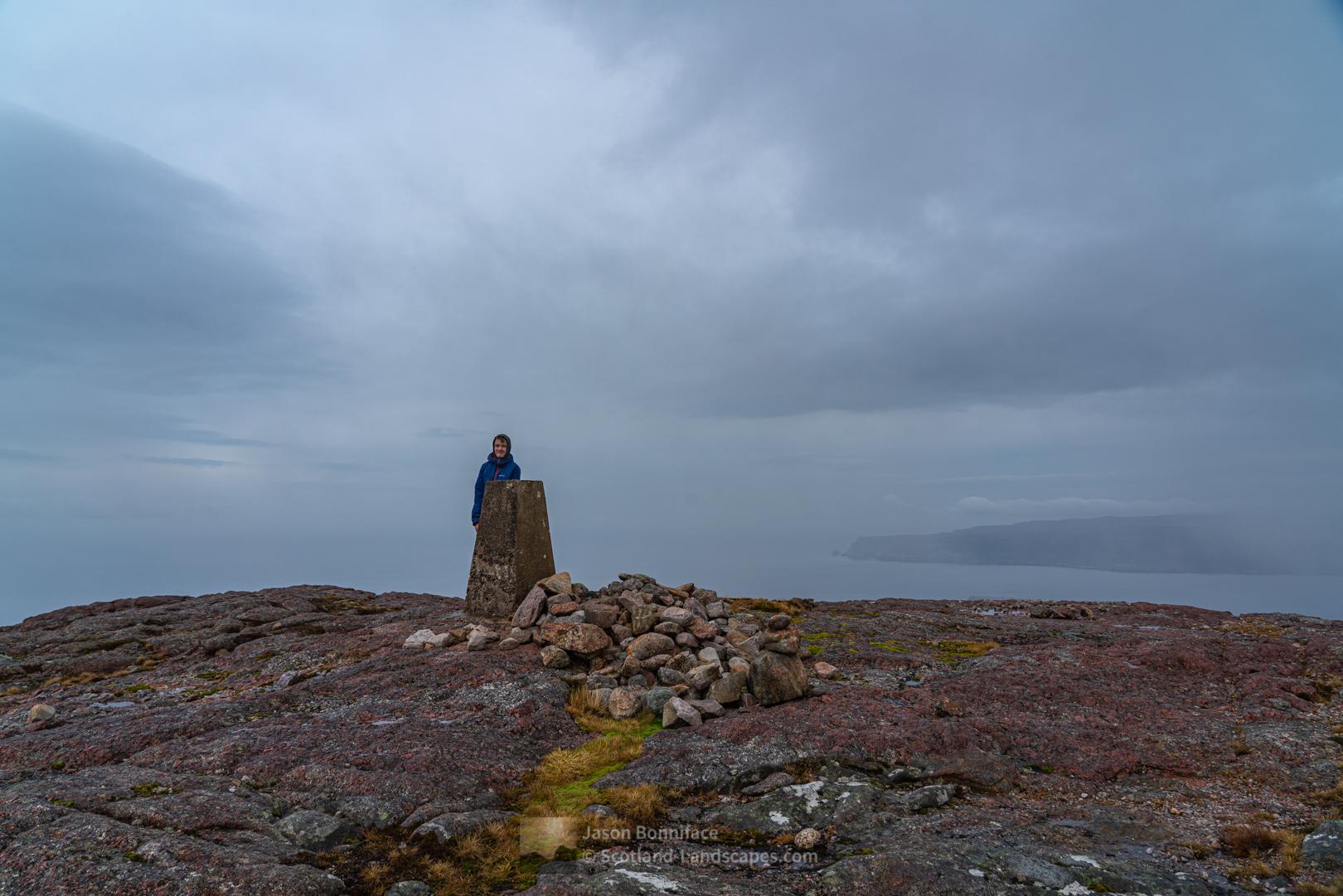The summit of wee Beinn Ceannabeinne above Durness