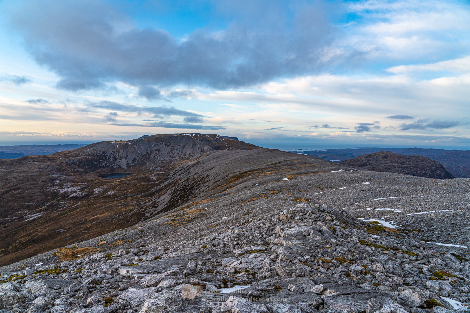 North west from the summit of Beinn Uidhe to Glas Bheinn