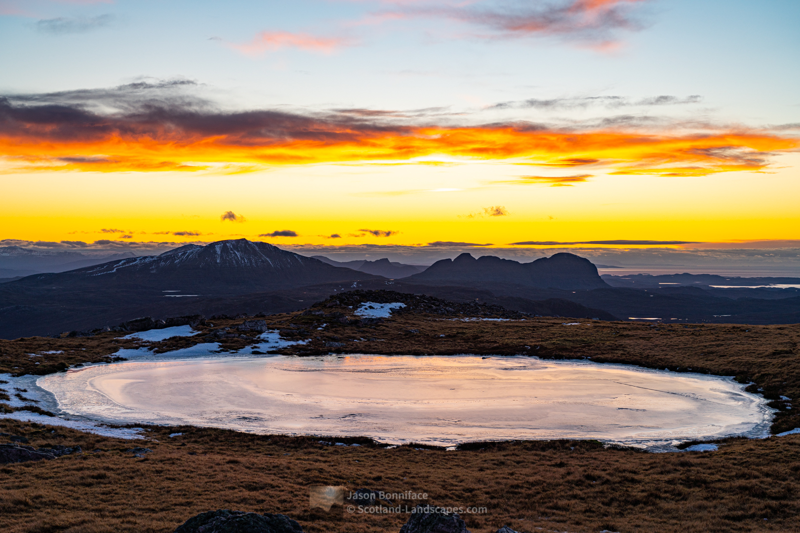The afterglow, Canisp, Stac Pollaidh and Suilven