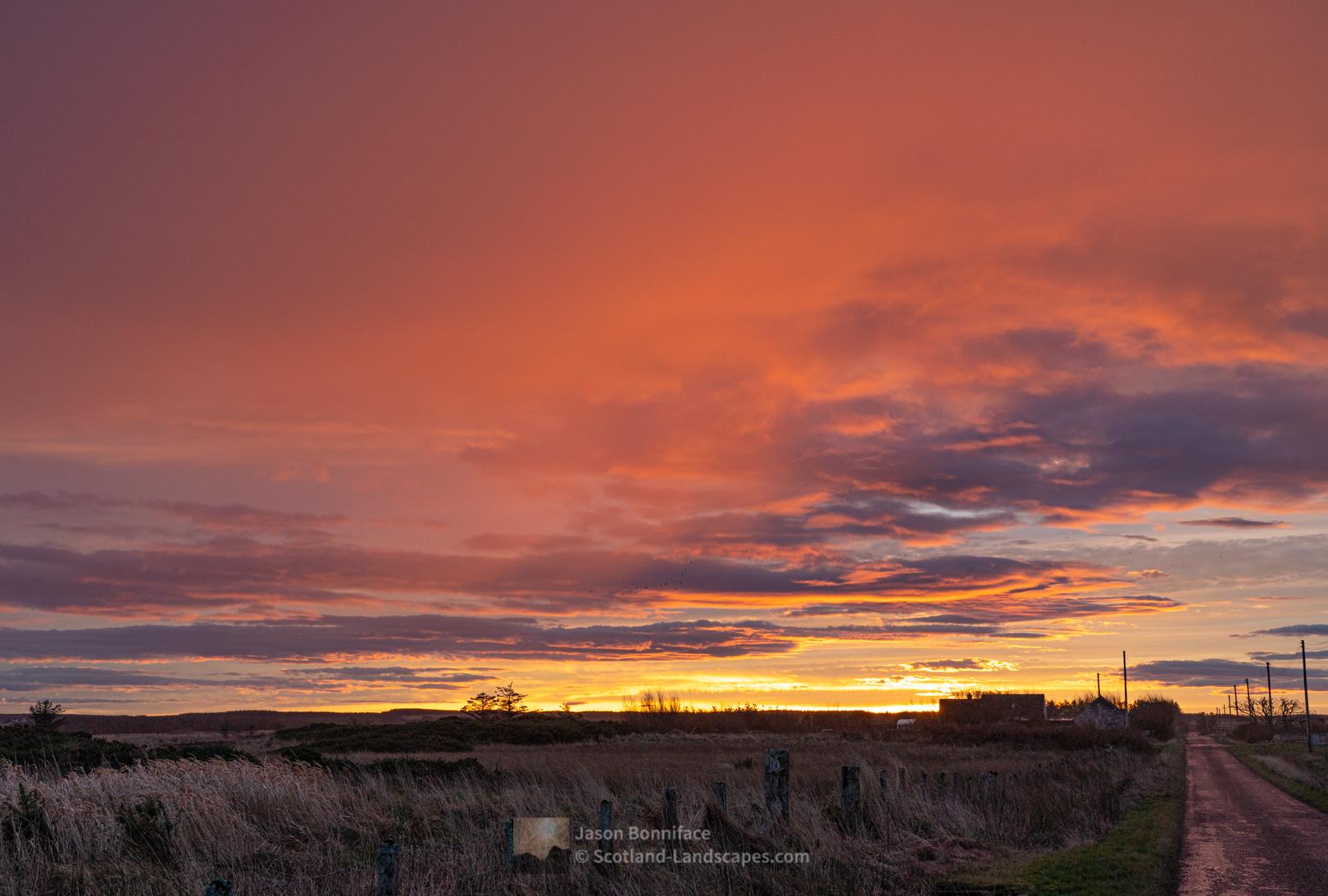 Sunrise developing, Caithness