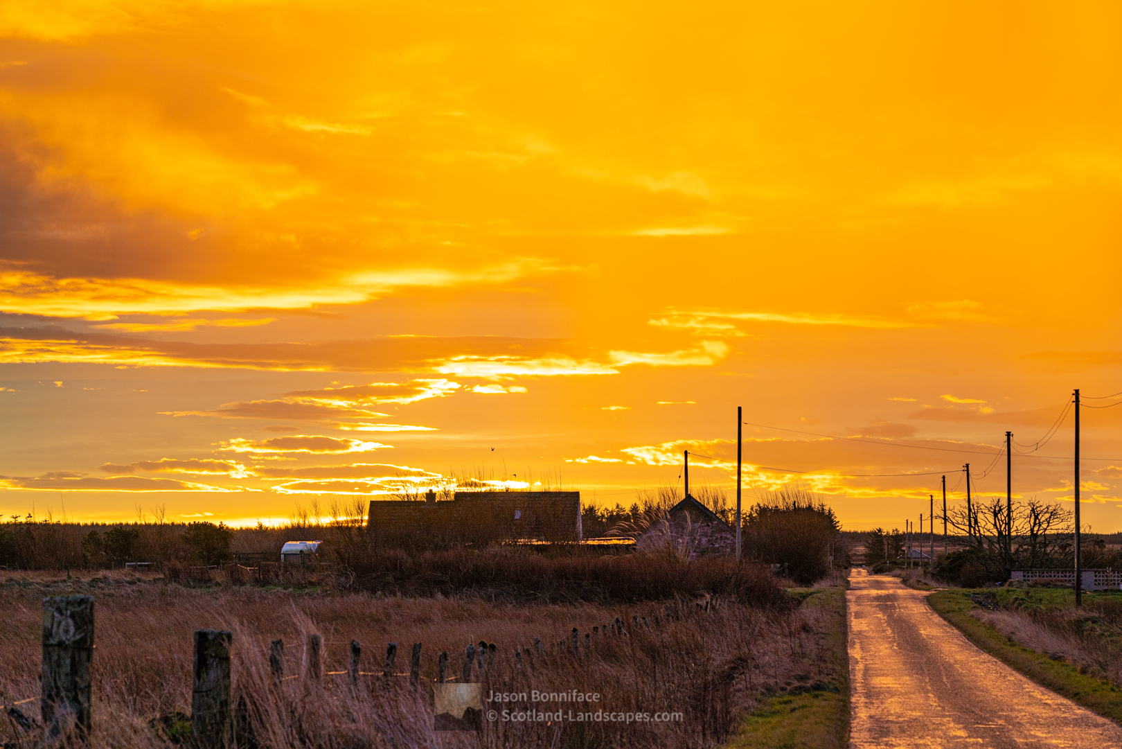 Clouds ablaze as the sun rises