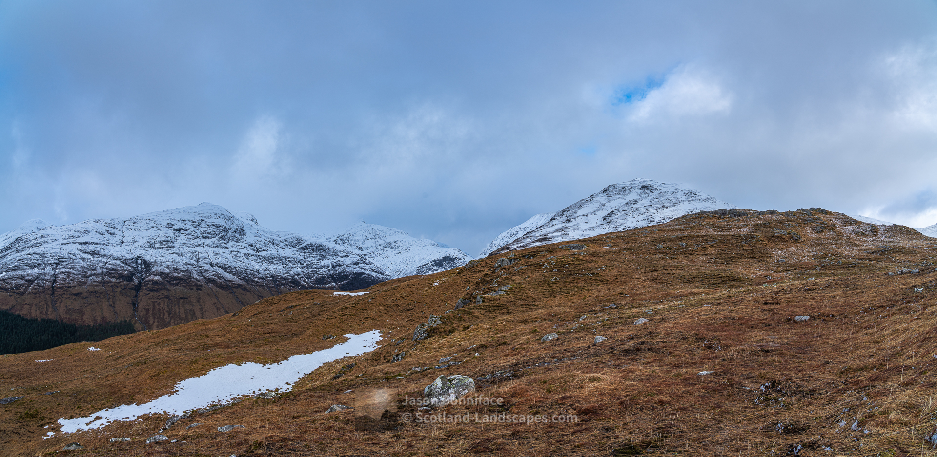 Meall a' Bhuiridh and the Corbett Beinn Maol Chaluim on the west side of Glen Etive