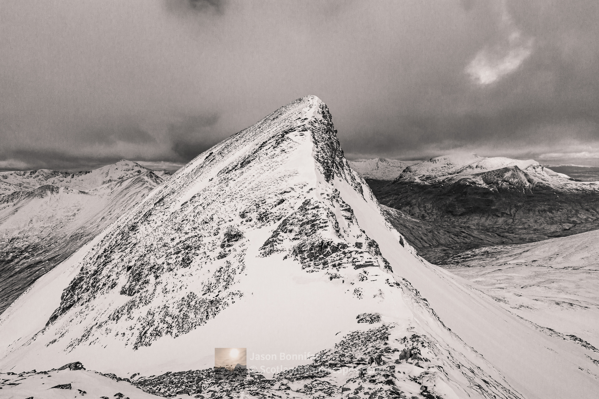 The North Top of Na Gruagaichean, Lochaber