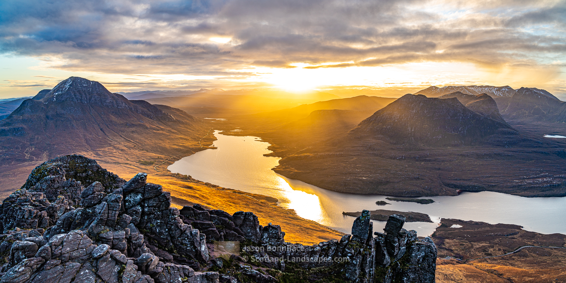 Sunrise from Stac Pollaidh, Assynt & Ullapool