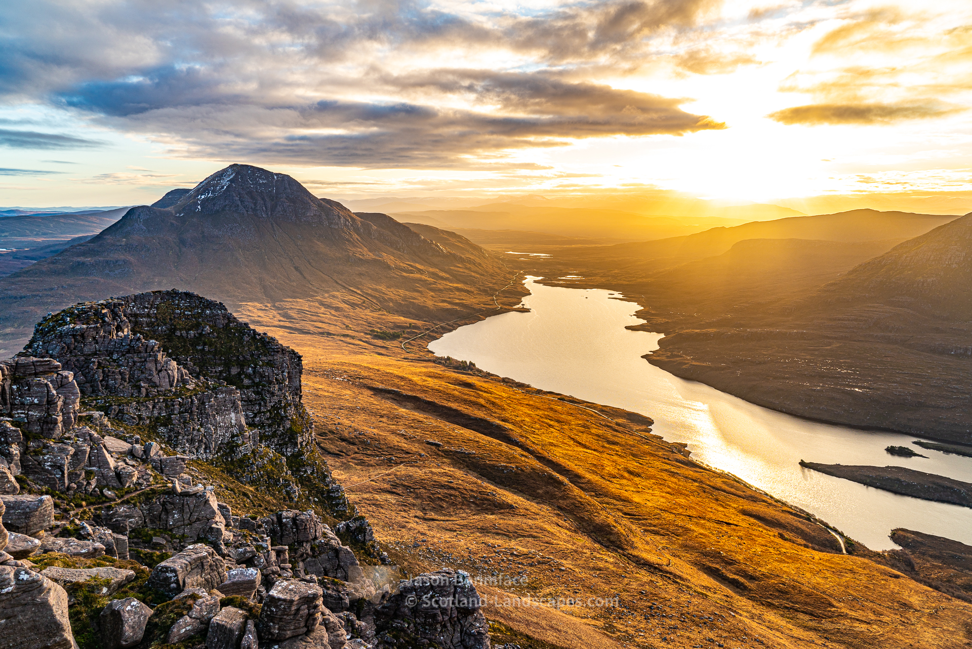 Golden Morning - Loch Lurgainn and Cul Beag, Assynt & Ullapool