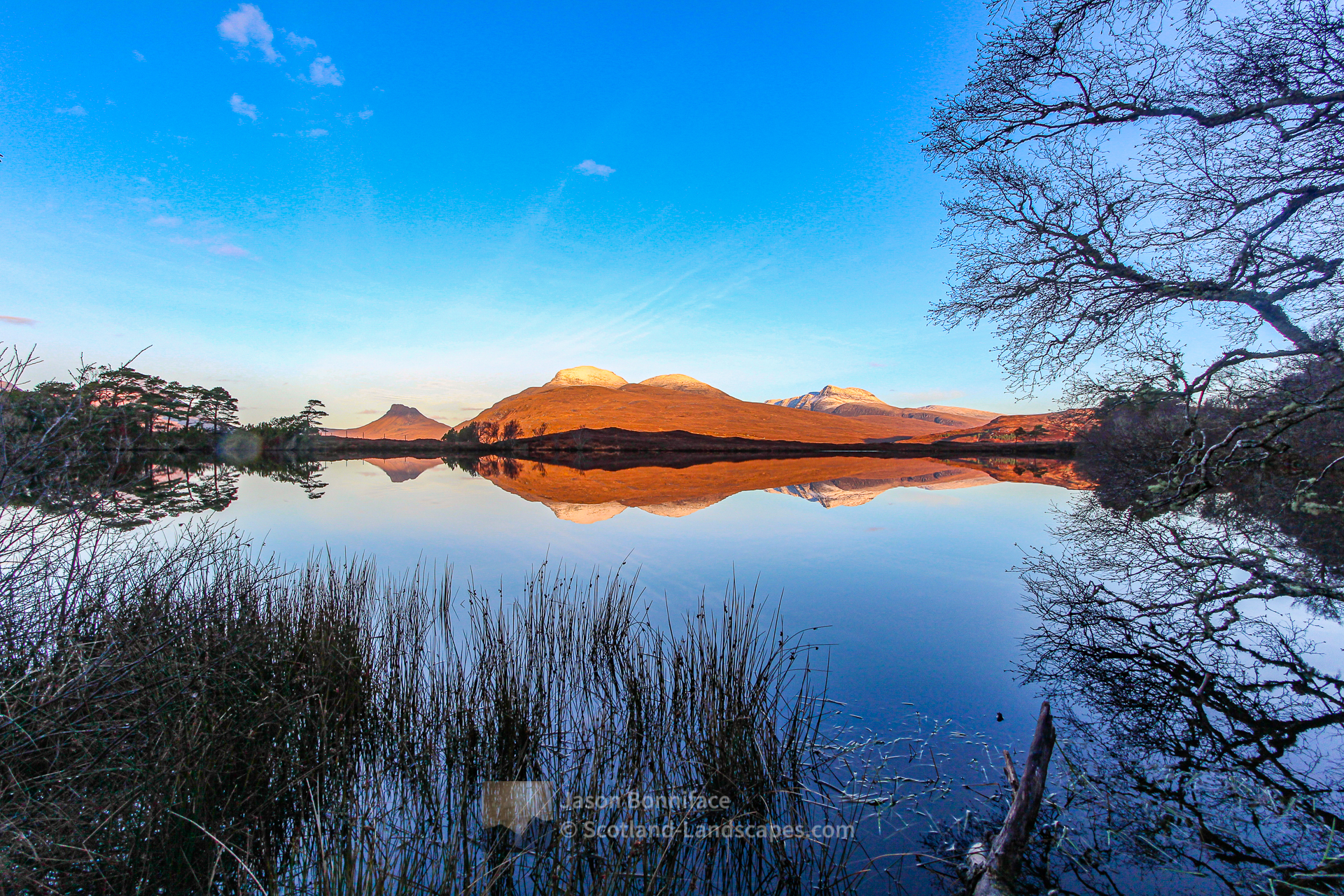 A Winter Morning Loch Cul Dromannan and Cul Beag, Assynt & Ullapool