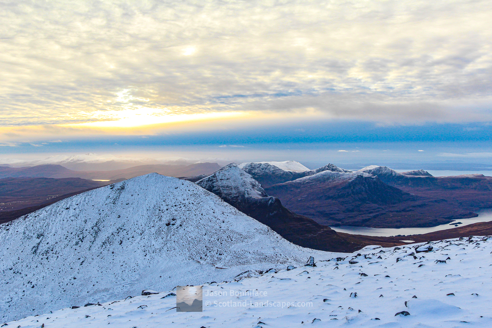South from the Summit of Cul Mor, Assynt & Ullapool