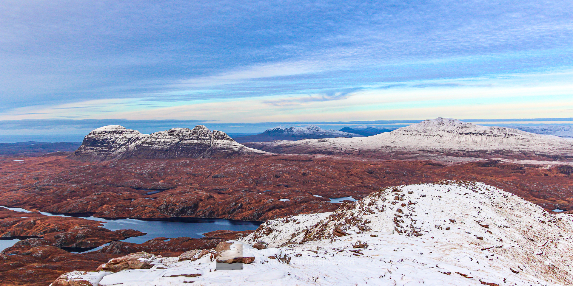 Winter on Suilven and Canisp, Assynt & Ullapool