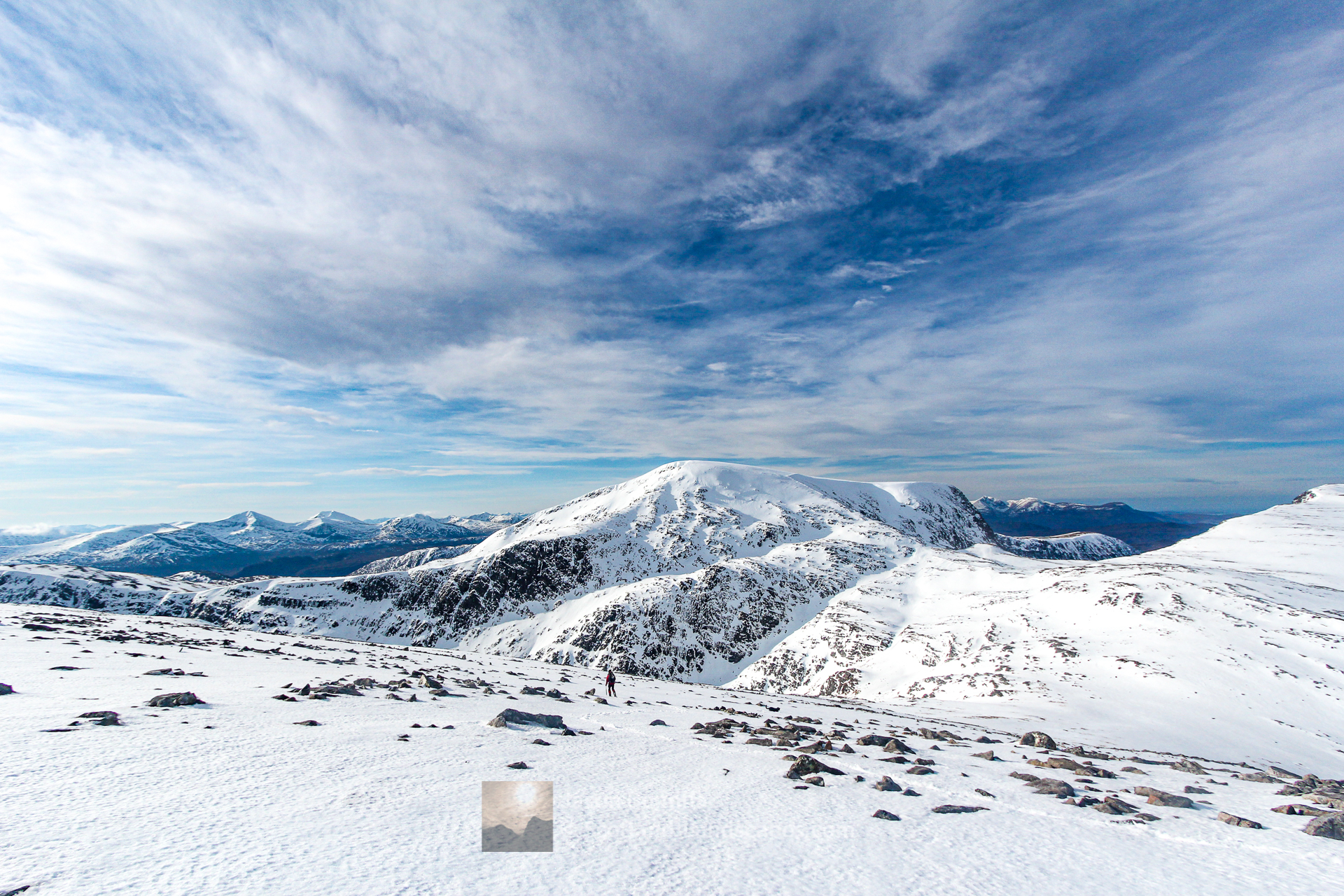 Beinn Dearg in Winter, Assynt & Ullapool