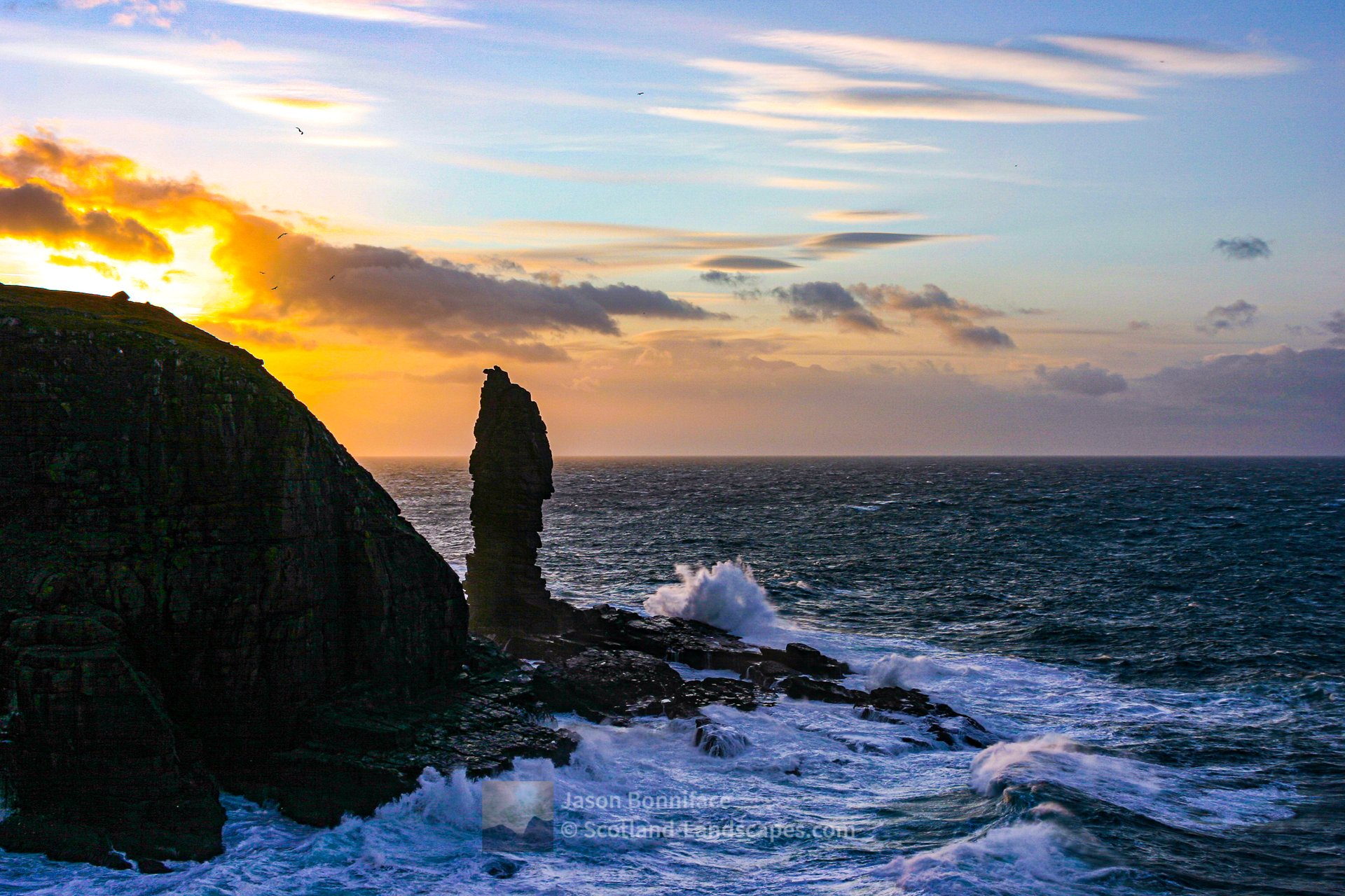 Sunset, The Old Man of Stoer, Assynt & Ullapool