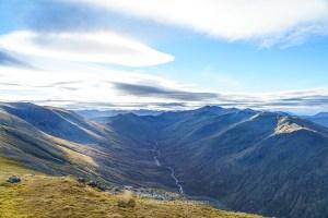 Sgurr nan Ceathreamhnan and Gleann a' Choilich from Beinn Fhionnlaidh, Glen Affric