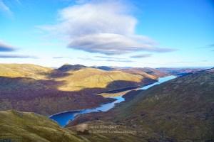 Loch Mullardoch and Sgurr na Lapaich from Beinn Fhionnlaidh, Glen Affric