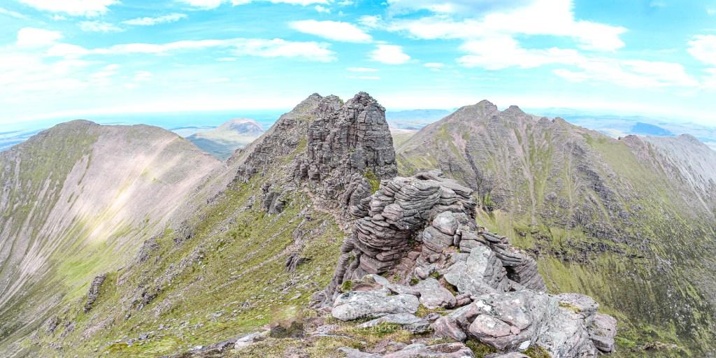 Corrag Bhuidhe Pinnacles in Summer, Torridon & Fisherfield