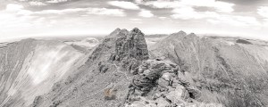 Corrag Bhuidhe Pinnacles in Summer (B&W), Torridon & Fisherfield