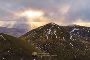 Meall na Teanga from Sron a' Choire Ghairbh, Lochaber
