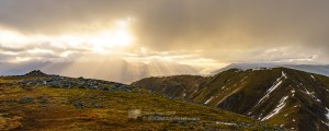 South from the summit of Meall na Teanga, Lochaber