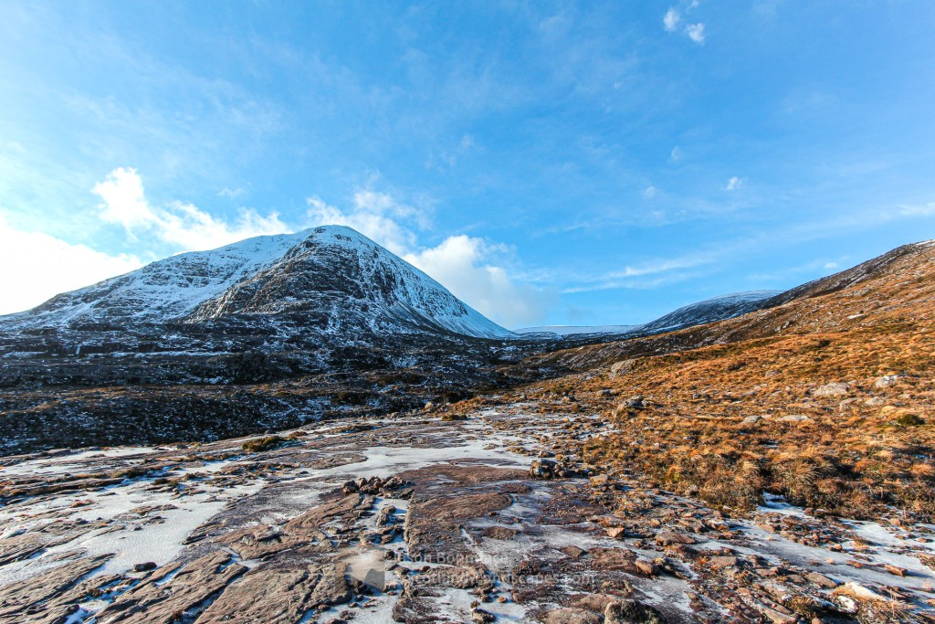 Glas Mheall Mor from the path above Dundonnell, Torridon & Fisherfield