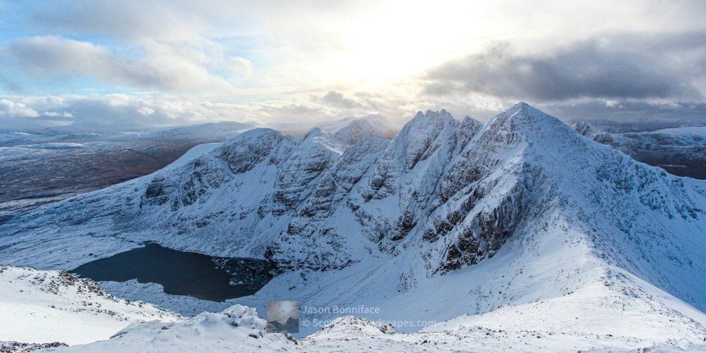 Winter - An Teallach and Toll an Lochain from Bidein a' Ghlas Thuill, Torridon & Fisherfield