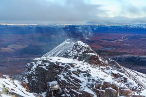 The charismatic east ridge of Bidein a' Ghlas Thuill to Glas Mheall Liath, Torridon & Fisherfield