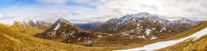 A Panorama - A' Chraileag, Am Bathach, Bealach a' Choinich, Sgurr an Fhuarail and Sgurr a' Bhealaich Dheirg, Lochalsh & Knoydart