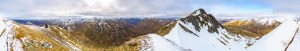 A 360 Degree Panorama from the South Ridge of Ciste Dubh, Lochalsh & Knoydart