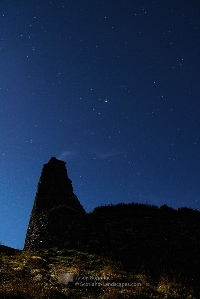 Moonlit Dun Dornaigil Broch, Northern Sutherland