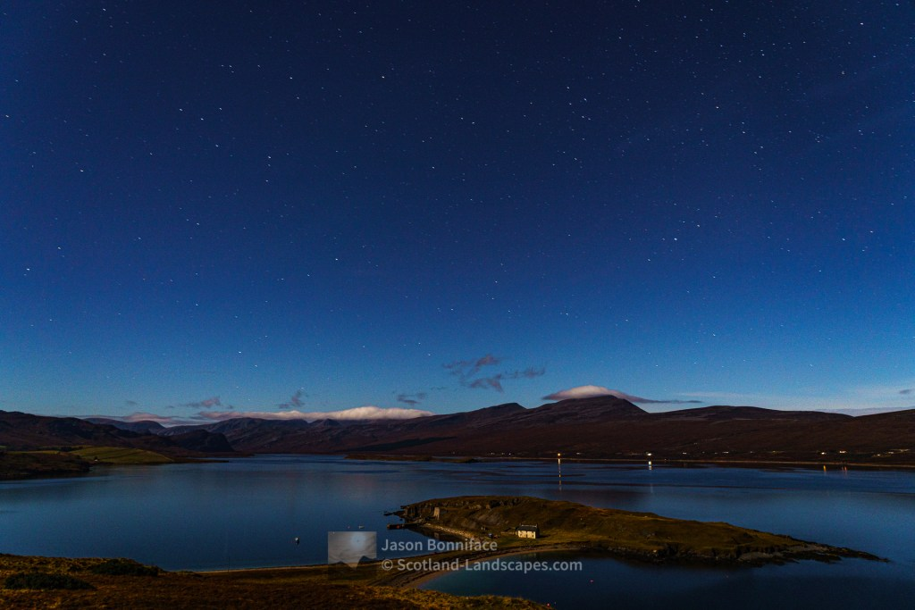 Stars over Loch Eriboll and Ard Neackie, Northern Sutherland