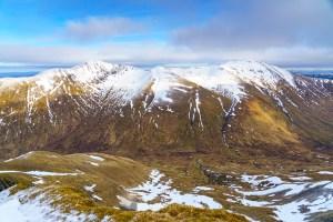 Mullach Fraoch Choire and A' Chraileag from Ciste Dubh, Lochalsh & Knoydart