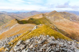The Ridge to Mullach Fraoch-choire from A' Chraileag, Lochalsh & Knoydart