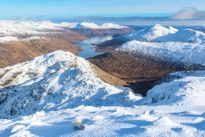 Down Loch Cuaich from Sgurr na Ciche, Lochalsh & Knoydart