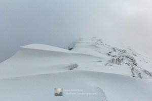 Drifts and Cornices - South West Ridge of Gleouraich, Lochalsh & Knoydart