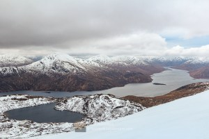 Gairich and Loch Cuaich from Spidean Mialach - Gleouraich, Lochalsh & Knoydart