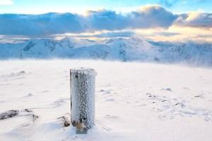 The Summit of Beinn Fhada (Ben Attow) on a Winter Afternoon, Lochalsh & Knoydart