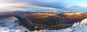 Strathmore Panorama - Ben Hee to Foinaven, Northern Sutherland