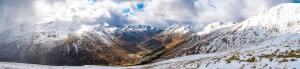 A Panorama Down Glen Shiel, Lochalsh & Knoydart