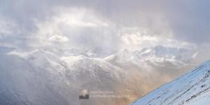 Snow Curtain Above Glen Shiel, Lochalsh & Knoydart