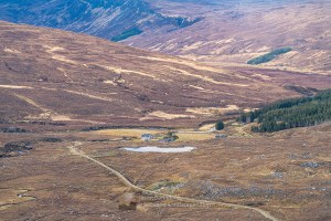 Looking Down on Gobernuisgach Lodge, Northern Sutherland