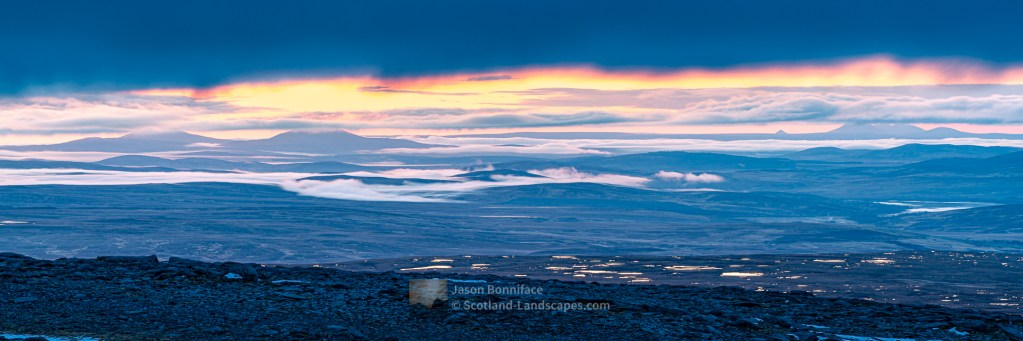 Dawn Over The Flow Country, Northern Sutherland