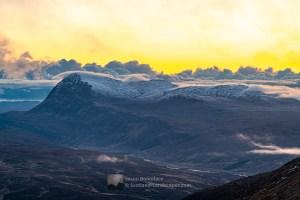 Ben Hope at Dawn from Beinn Direach, Northern Sutherland