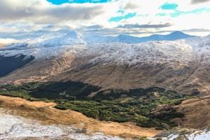 Sunlit Glen Dessarry from Garbh Chioch Bheag, Lochalsh & Knoydart