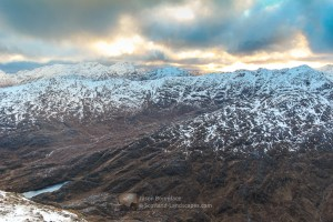 South from Sgurr nan Eugallt on Hogmany, Lochalsh & Knoydart