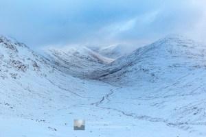 Wester Glen Quoich (Cuaich) from Bealach Duibh Leac, Lochalsh & Knoydart