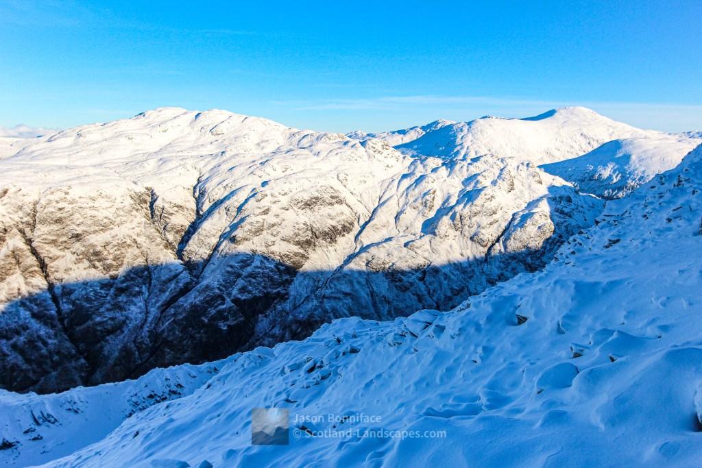 A' Ghlas-bheinn and Sgurr nan Ceathramhnan from the North West Ridge of Beinn Fhada, Lochalsh & Knoydart